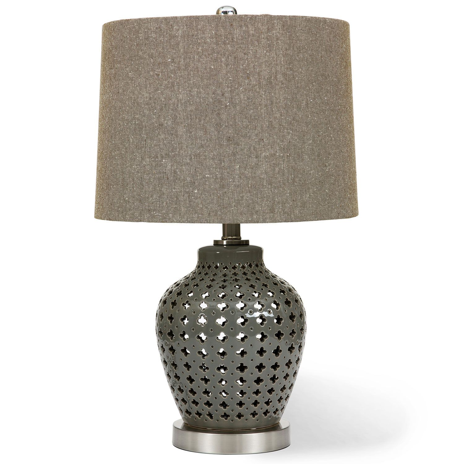 Open lattice ceramic table lamp 36x58cm by decorator clearance on thehome com au
