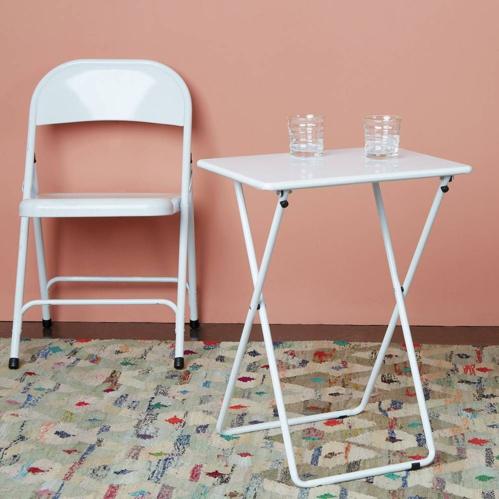 Buy Habitat Airo Metal Folding Table White Side tables