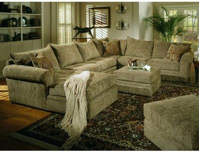 SECTIONALS | Versatile, durable and carefully designed describe this chenille ...