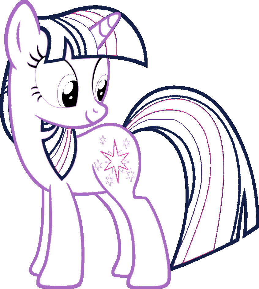 Twilight Sparkle Coloring Page with links to the other MLPs! | MY ...
