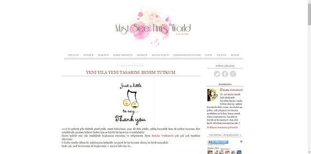 Benim Tutkum - Kozmetik ve Bakım Hakkında Herşey: Blog Şablon Tasarım Teslimi #4
