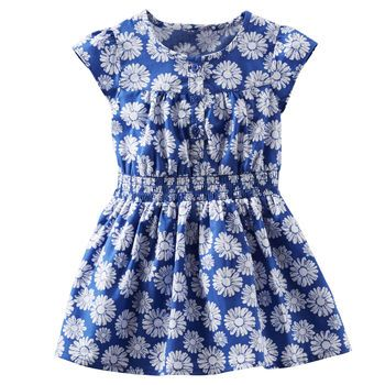2-Piece Printed Poplin Dress