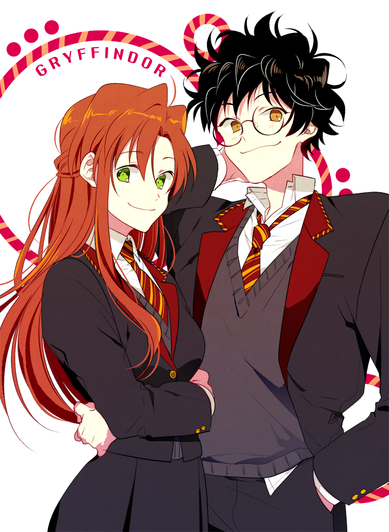 Lily Evans and James Potter Harry potter anime, Harry
