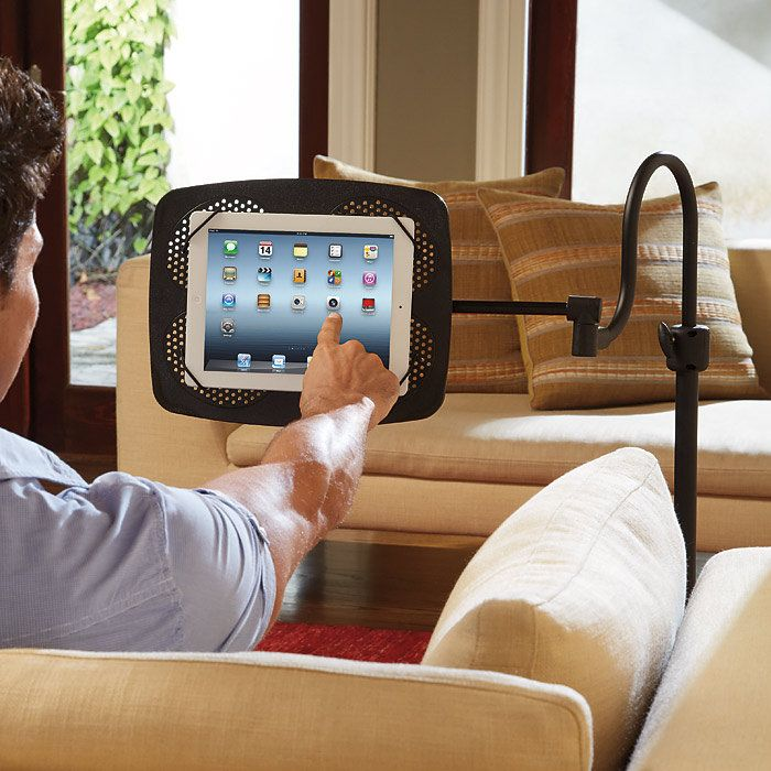 Levo Deluxe eBook and iPad Holder Floor Stand at Brookstone—Buy Now!