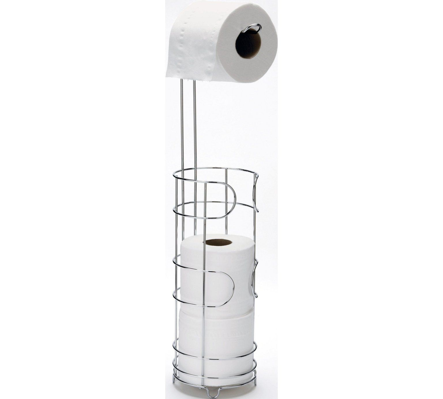 HOME Wire Toilet Roll Storage and Holder - Silver at Argos.co.uk ...
