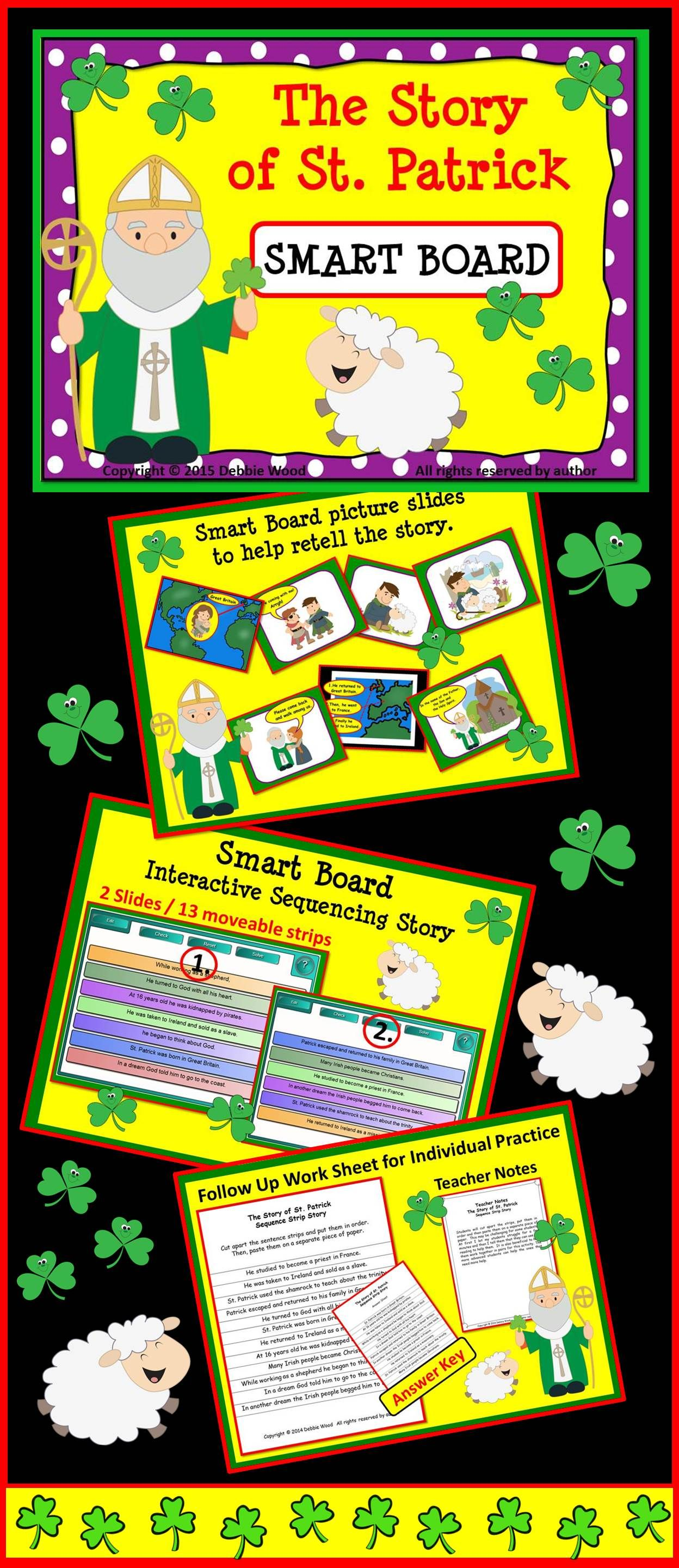 The Story Of St Patrick Smart Board Students Will Have