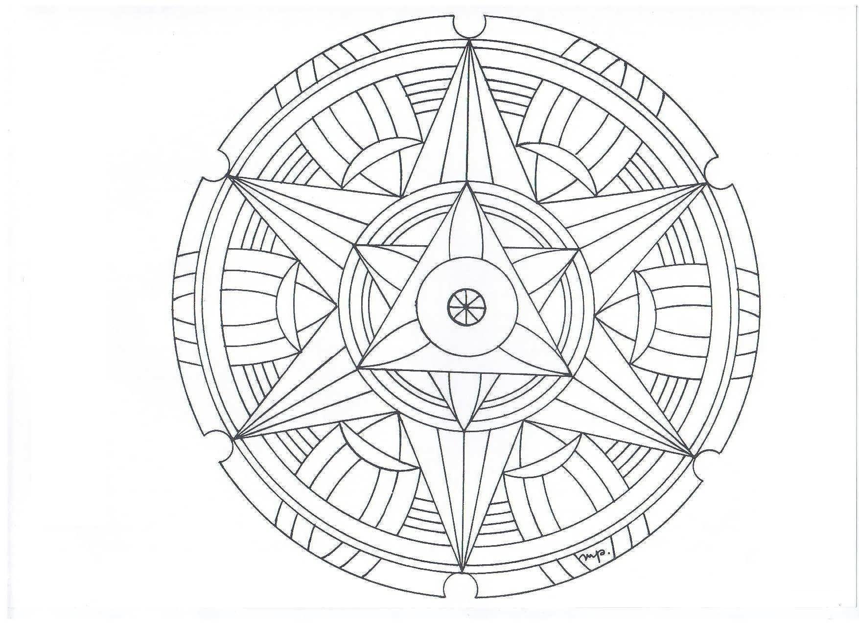 Сложные узоры со звездой в центре, в круге | Узоры ...