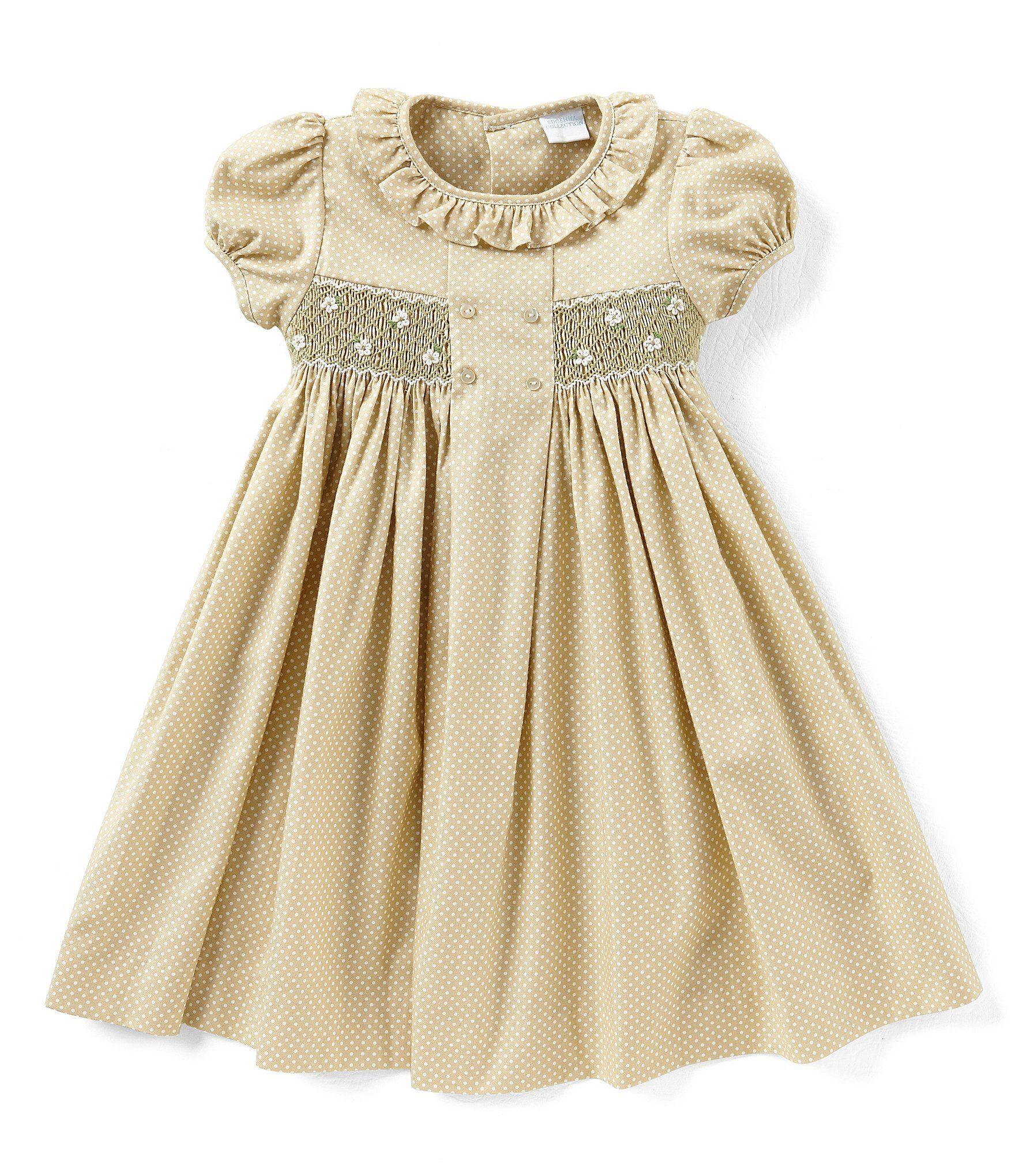 fb6df95da18 Edgehill Collection Little Girls 2T4T MiniDot Smocked Dress  Dillards