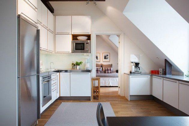 19 Cool Attic Kitchen Design Ideas Kuchnia Dachgeschoss