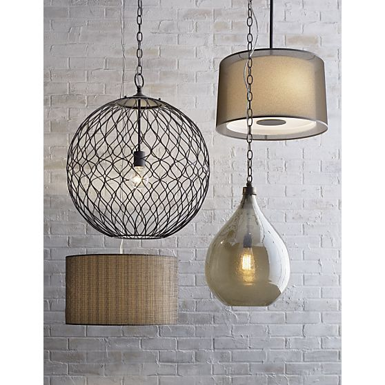 Glint Pendant Lamp In Chandeliers Pendants Crate And Barrel