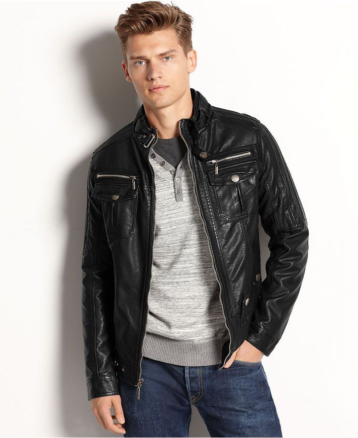 Leather Bomber Jacket by X-Ray. Buy for $128 from Macy's | Flott ...