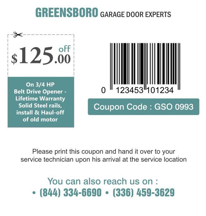 Get $125off on 3/4 HP belt drive #garagedooropener To Get Coupon