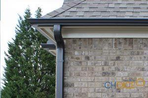 Pin By Raintamer Raintamer On Aluminum Gutters Painted Brick House House Gutters House Exterior