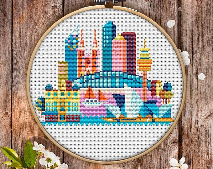 Sydney Cross Stitch Pattern For Instant Download 162 Easy Cross