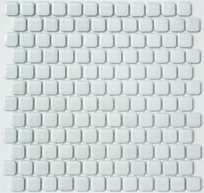 Retro Chiclet Glazed Porcelain Mosaic Tile In Whipped Cream White 1 X 1 Rounded Square Mosaic Tile New At Mosaic Tiles Porcelain Mosaic Tile Mosaic Flooring