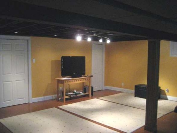 basement ideas on pinterest basement ceilings painted basement cei. Black Bedroom Furniture Sets. Home Design Ideas