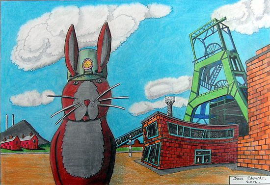 Coal Miner Bunny by Dave Edwards (a cousin of mine in England)