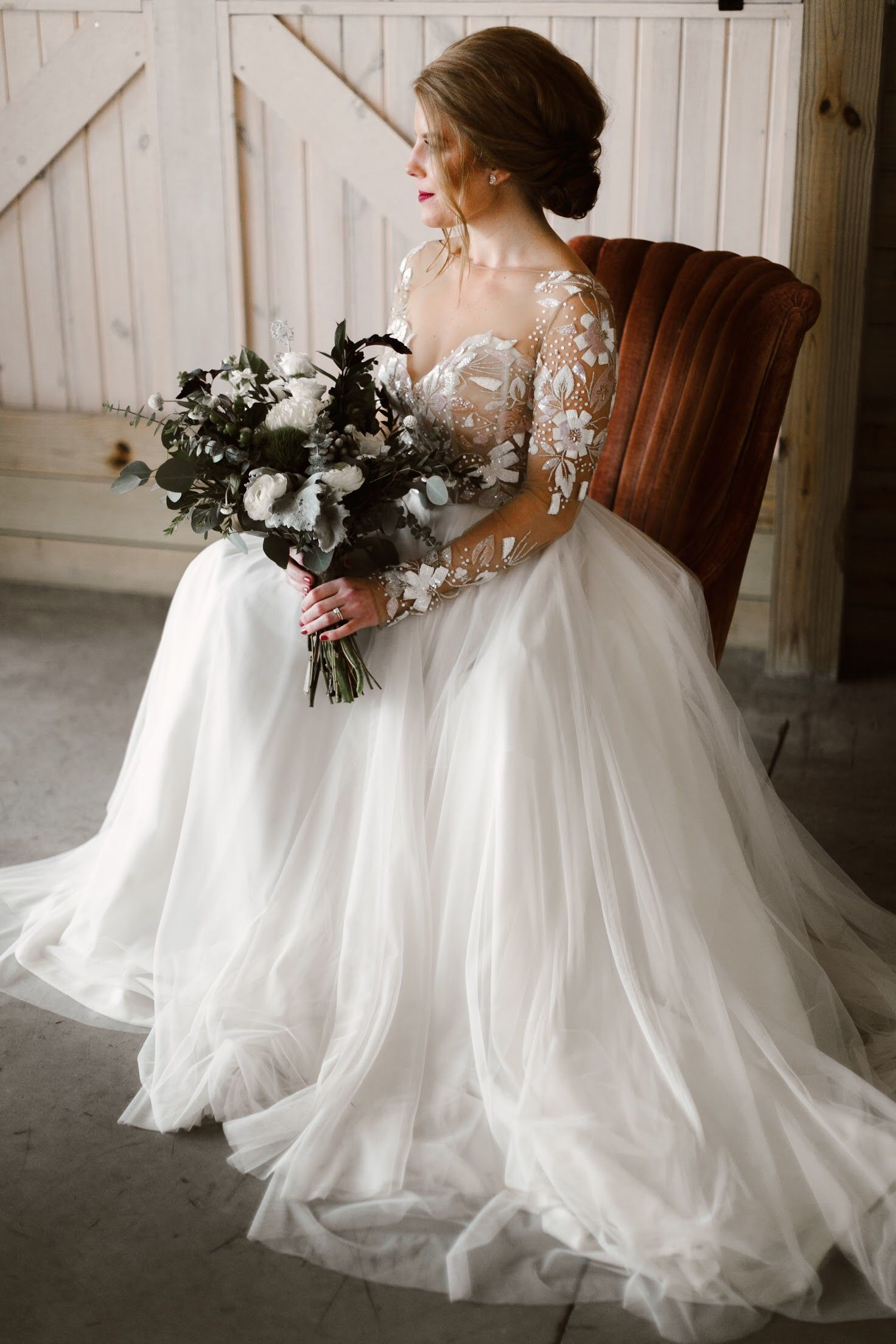 How much are hayley paige wedding dresses  Real Wedding Heather  Alex  Cozy  Romantic Wedding in