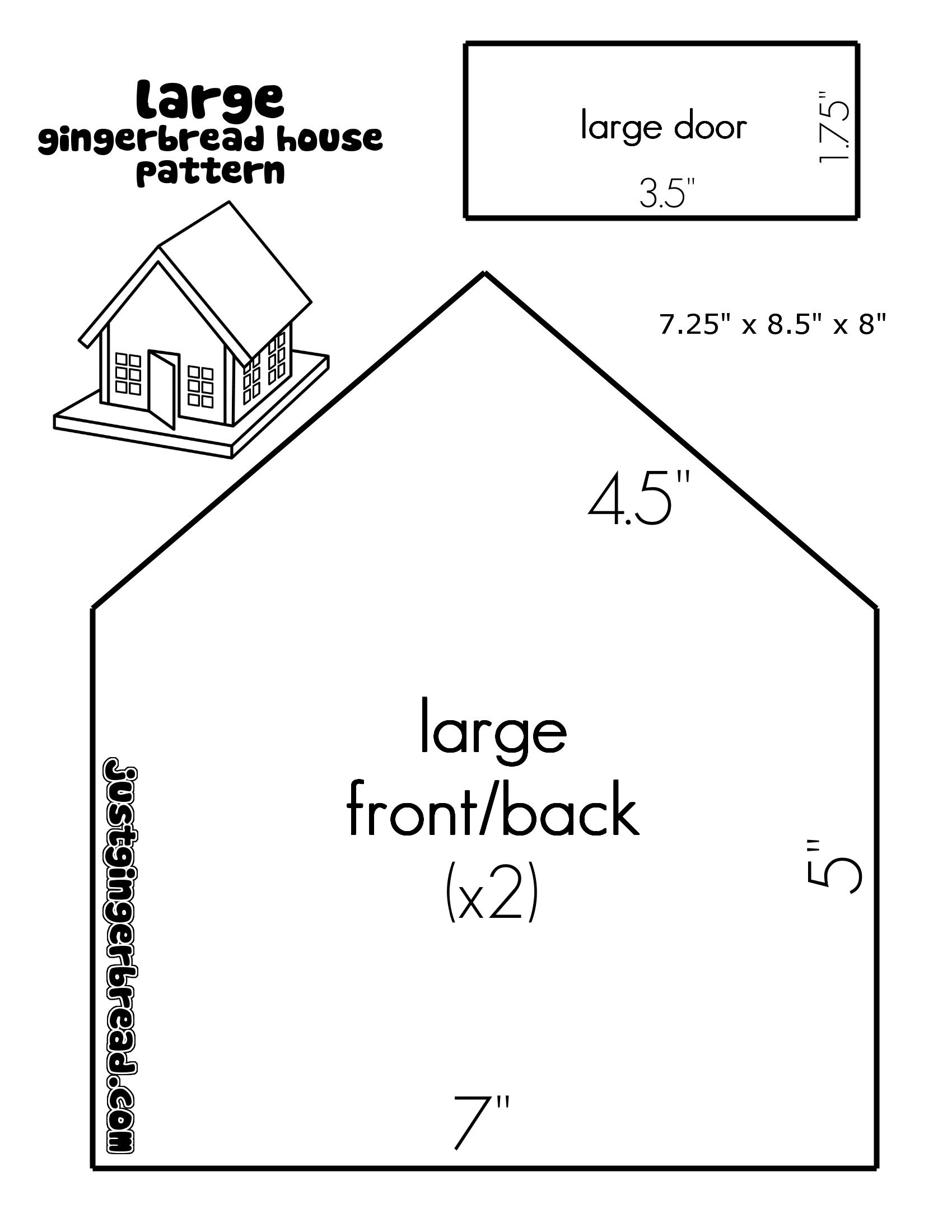 gingerbread house template big  Large house template | Gingerbread house patterns ...