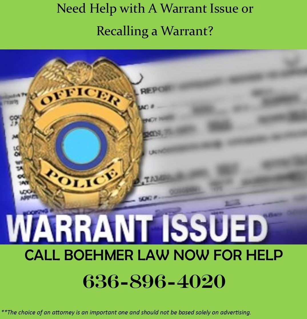 Getting a warrant recalled in Missouri Legal services