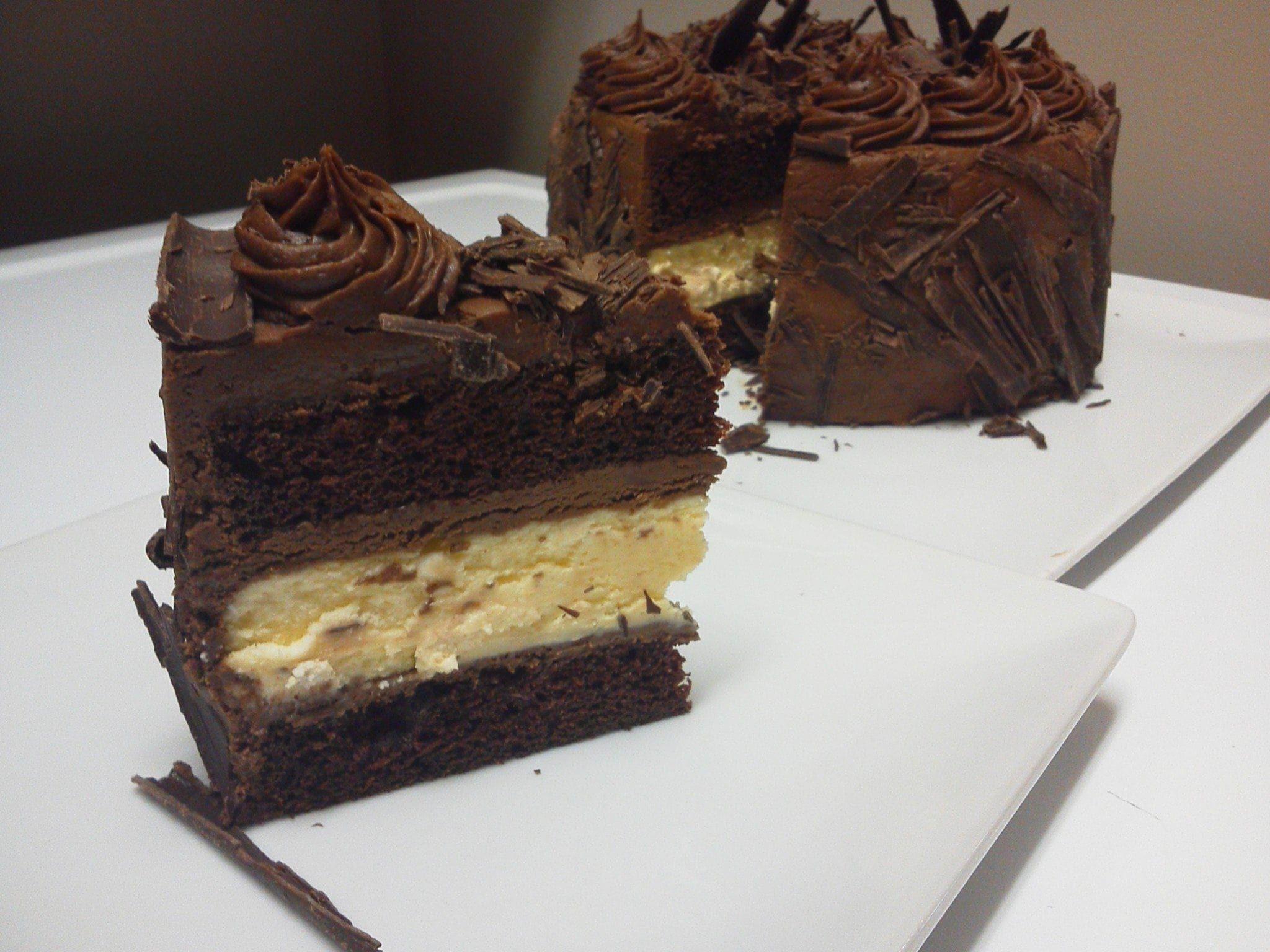 Sensational Fudge Wrapped Cheesecake Layer Cake Best Ever Chocolate Cake Birthday Cards Printable Giouspongecafe Filternl
