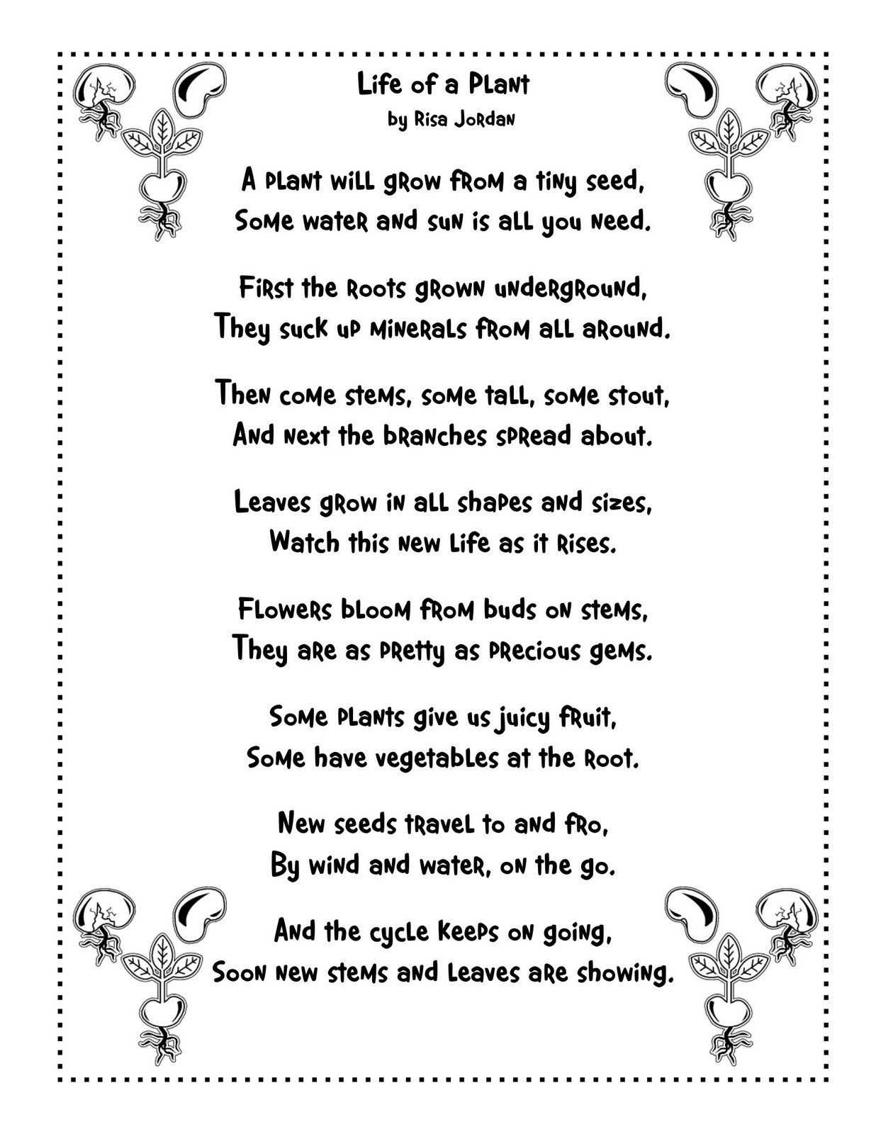 Nature Poetry Worksheets   Printable Worksheets and Activities for  Teachers [ 1600 x 1236 Pixel ]