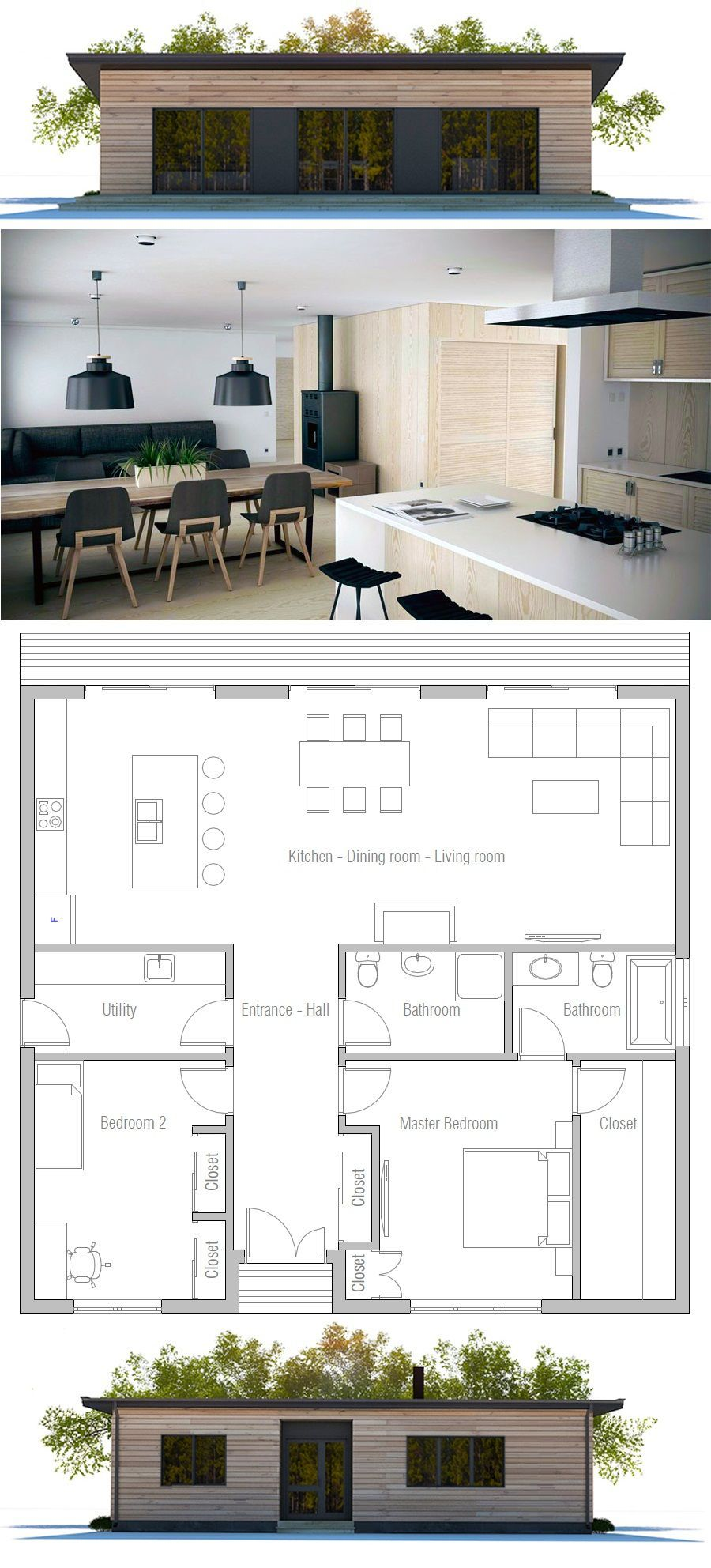 10 Storage Organizer Ideas For Small Bedroom Simphome Courtyard House Plans Two Bedroom House Bedroom House Plans