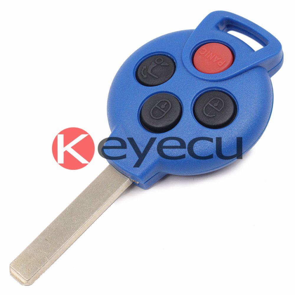 New Blue Keyless Entry Remote Key Fob 315mhz 7941 Chip 4 Button
