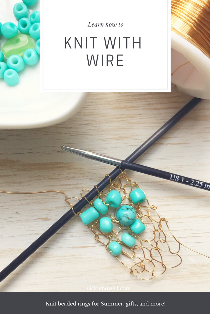 How to Knit with Wire & How to Crochet with Wire to Make Cute Rings ...