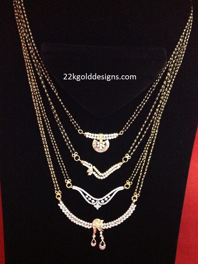 Double Layered Diamond Mangalsutra Designs In 2019 Long