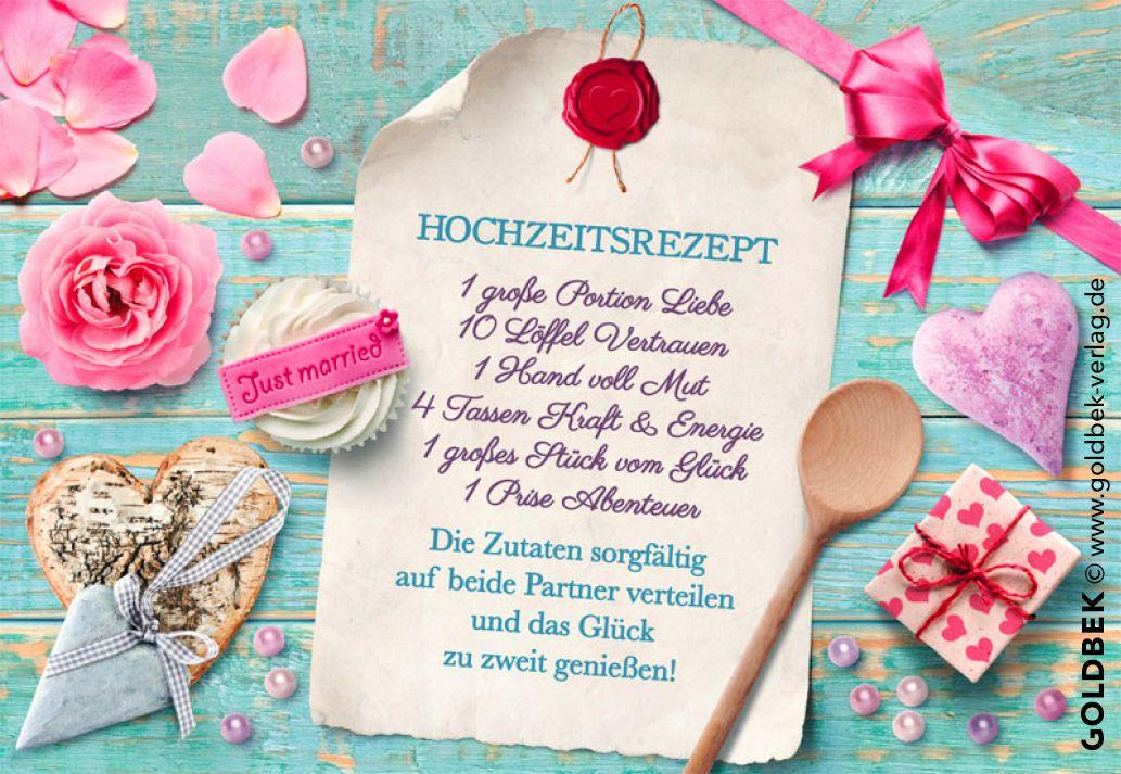 Postkarten - Hochzeit. Ein süßes Hochzeitsrezept ...