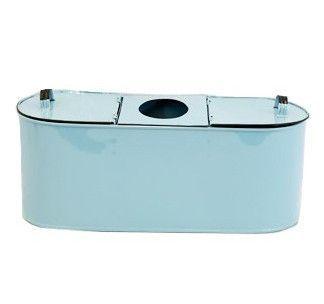 Aqua Enamel Tissue & Toilet Paper Holder