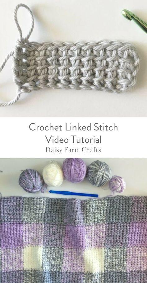 Crochet Linked Stitch Video Tutorial | tejidos | Pinterest ...