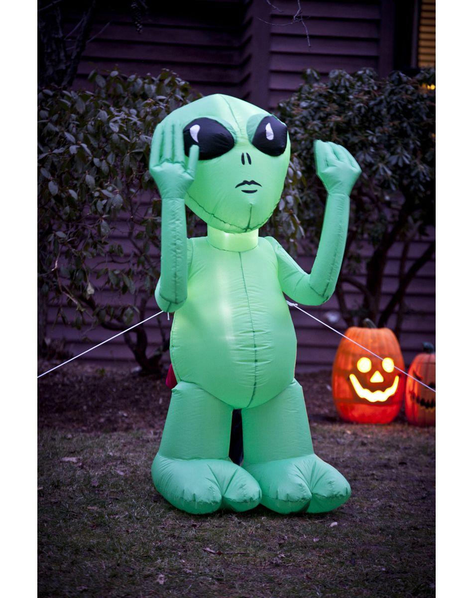 5' Inflatable Alien Character Spirit Halloween Alien