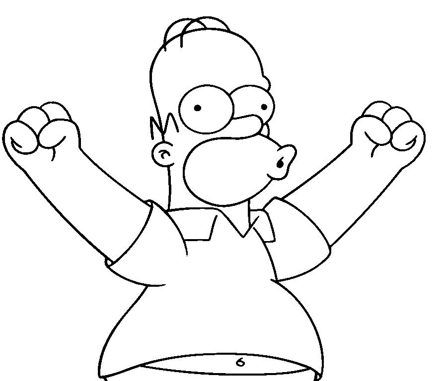 homer simpson free coloring pages for kids printable simpsons coloring pages for kids - Simpsons Halloween Coloring Pages