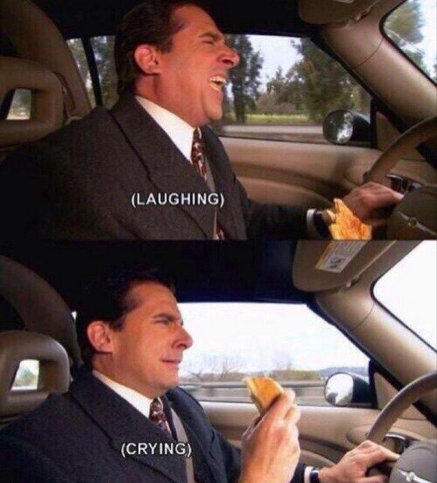 When you try to keep a sense of humor about things: