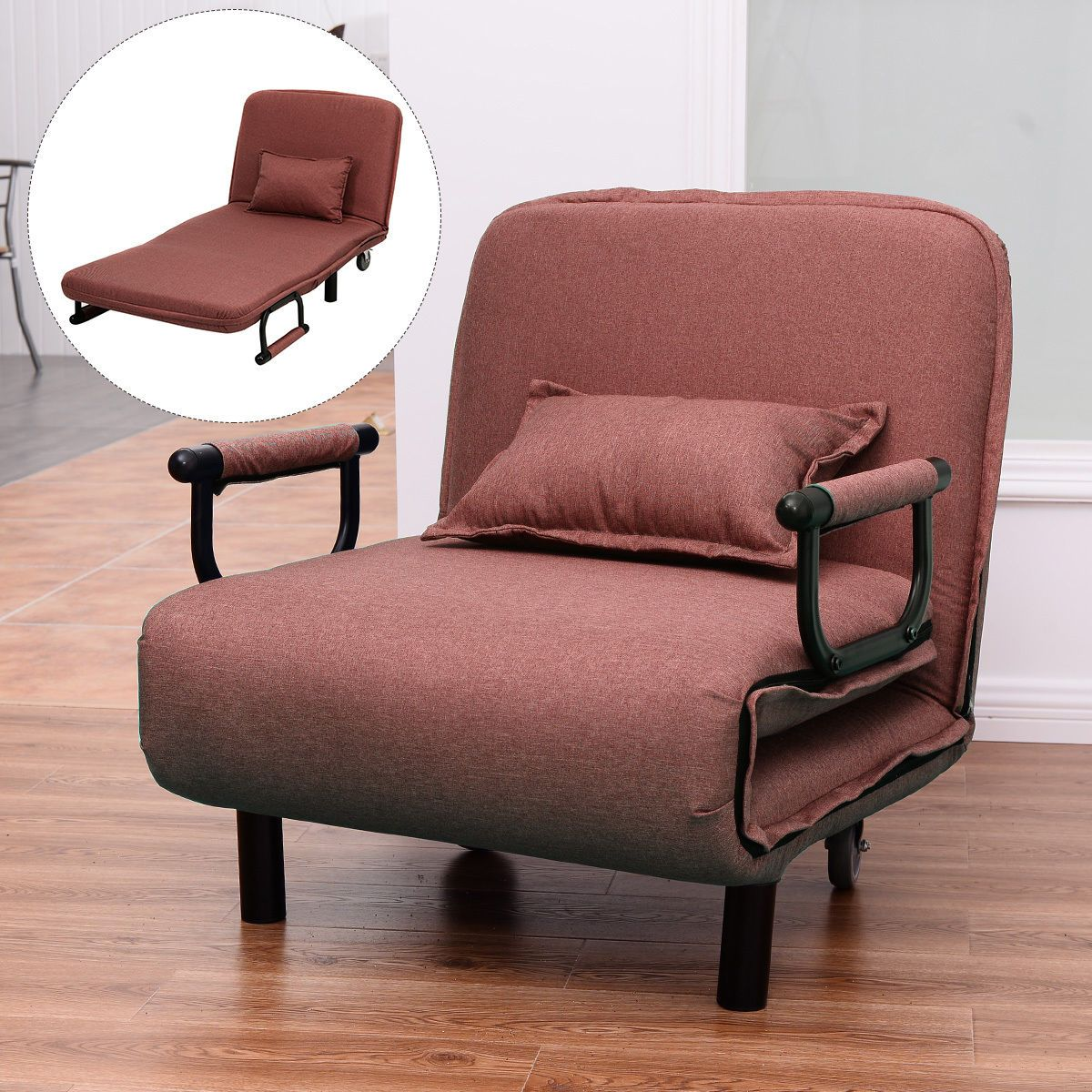 Sofa Bed Folding Arm Chair 29 5 Width Convertible Sleeper Recliner Lounge New Sofa Bed Folding Lounge Chair Chair Sofa Bed