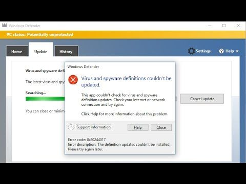 How to Fix Windows Defender not updating problem { Solved