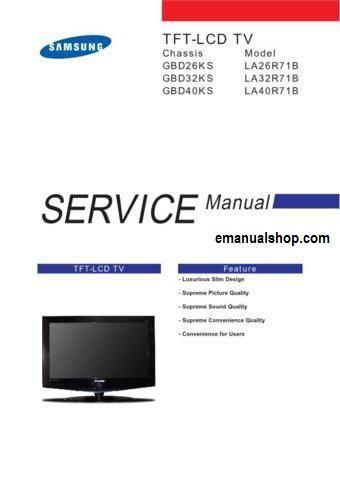 samsung lcd tv gbd26ks service manual download service repair rh pinterest com samsung lcd tv service manual download samsung lcd tv service manual pdf