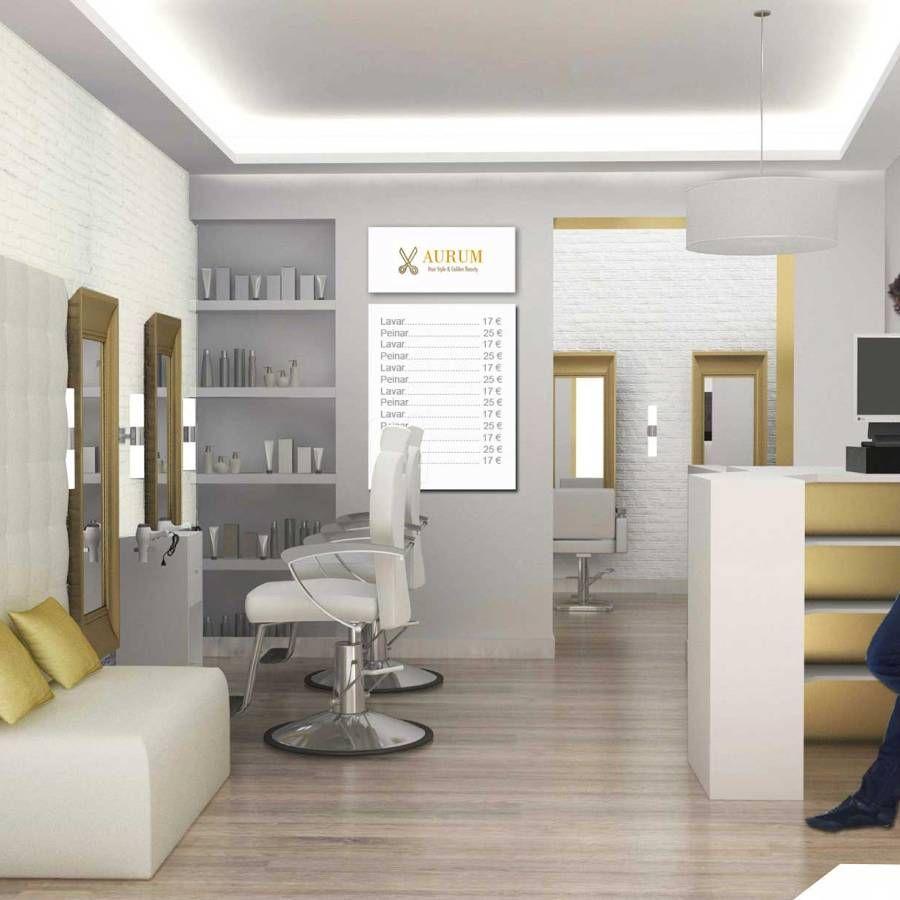 Proyecto De Decoración De Peluquerías Pequeñas Hair In