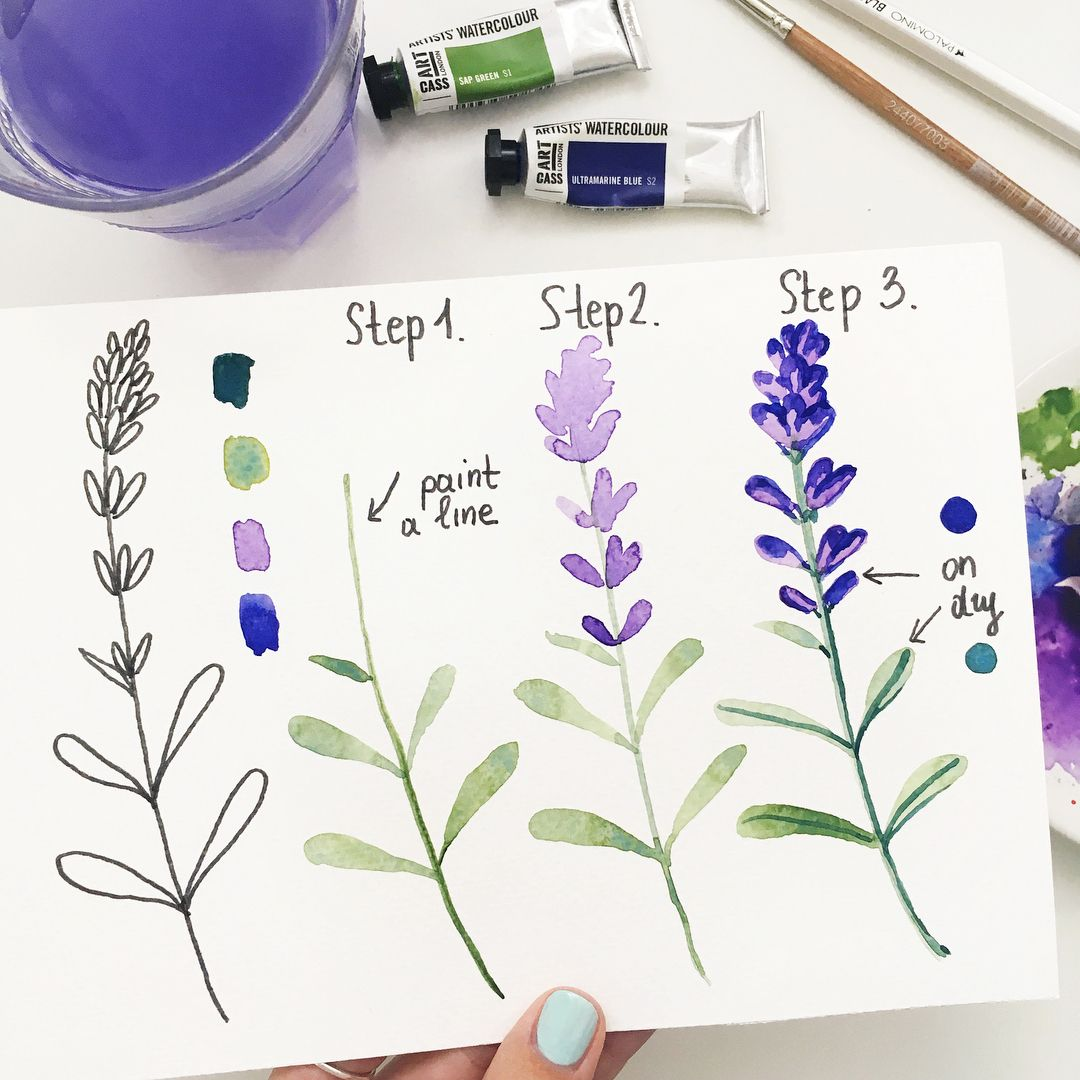 Hey New Tutorial Lavender As You Requested Just 3 Easy