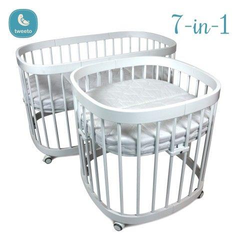 Tweeto Babybett Kinderbett Komplett Set 7 In 1 Weiß