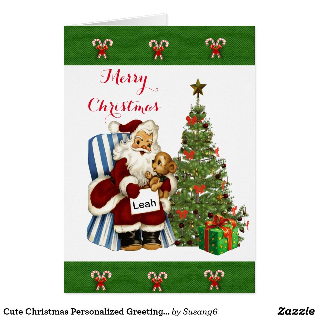 Cute Christmas Personalized Greeting Card For Kids