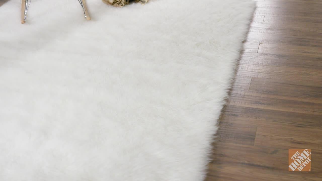 Home Decorators Collection Faux Sheepskin White 8