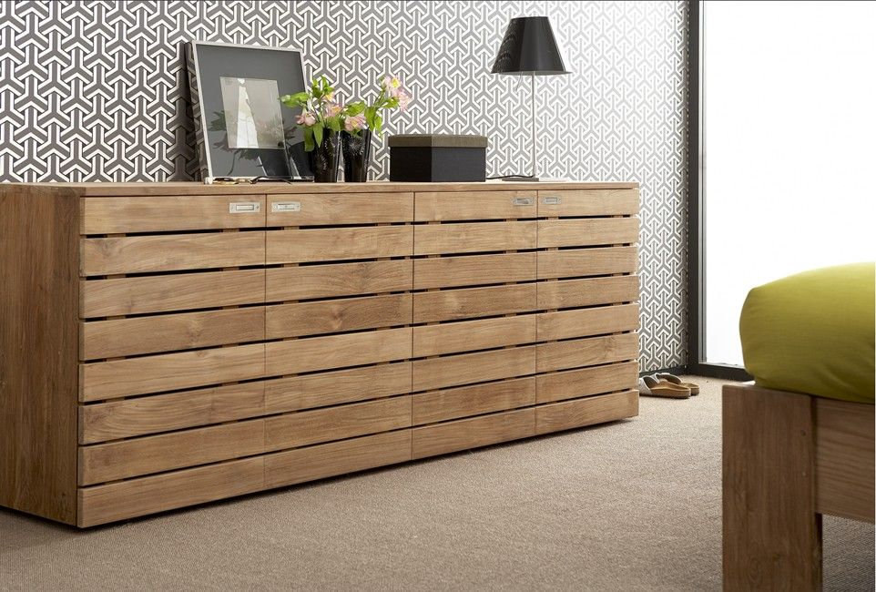 teak horizon sideboard l from ethnicraft   for the home, Deco ideeën