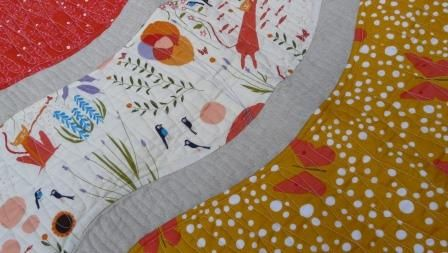CatNap-detail featuring By Sea or By Land quilt pattern.