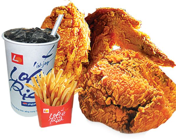 fried chicken and coke (Lotteria)