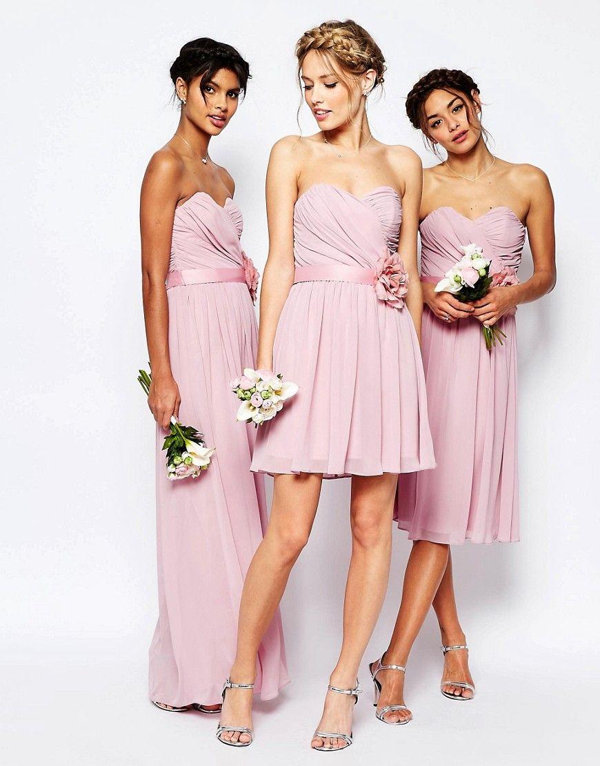 Image 4 asos petite wedding robe courte en mousseline avec asos wedding chiffon bandeau dresses with detachable corsage belt ombrellifo Images