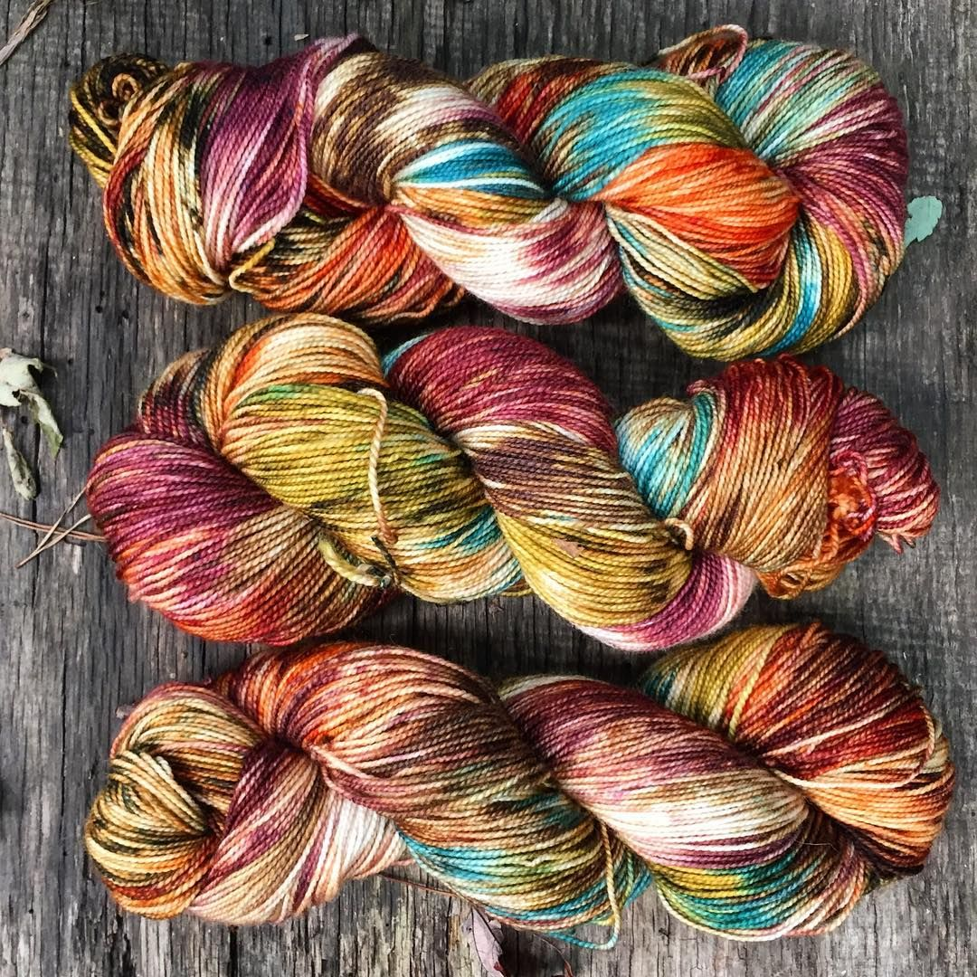 Dodging raindrops   bagpipes   cannon fire   #pennscolonyfestival Yarn: Autumn Harvest #wrenhouseyarns #indiedyer #etsy