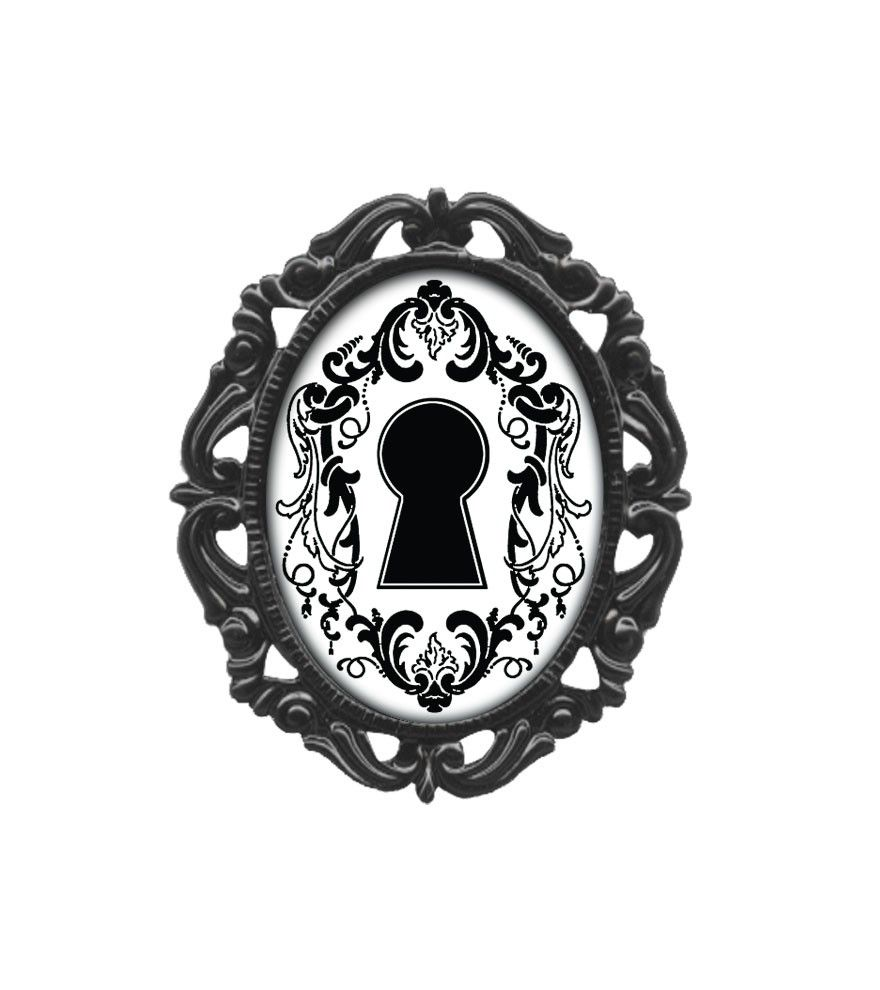 Keyhole Classic Silhouette Victorian Frame Pin #Classichardware ...
